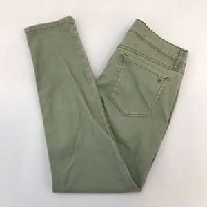 Jessica Simpson Green Rolled Skinny Cropped Pants